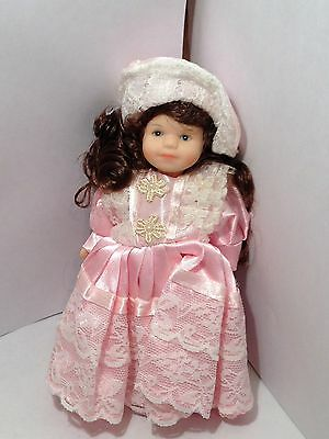 Cameo Kids Dolls 5.5 Inch Girl Pink Dress Hat Lace Porcelain NEW!  (16)
