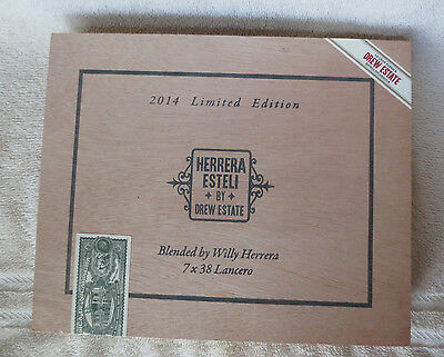 Drew Estate Herrera Esteli  Lancero Wood Cigar Box - Nice- Beautiful!