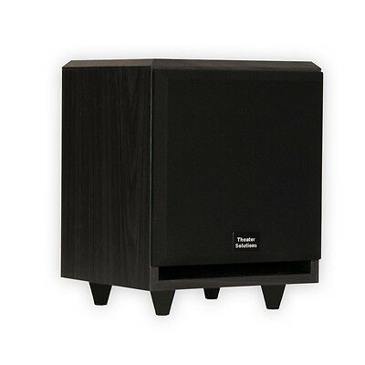 """Theater Solutions SUB6F Home Theater Powered 6.5"""" Subwoofer Front Firing Sub"""