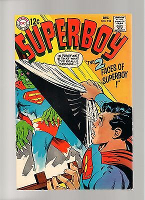 Superboy # 152   ( 1968 )    Neal Adams!  Dc Comics  Sharp Copy!