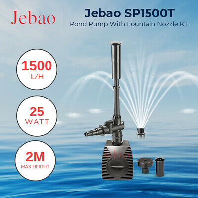 Jebao SP1500 Feature Nozzles included, 1500 L/hr Small feature or fish pond pump