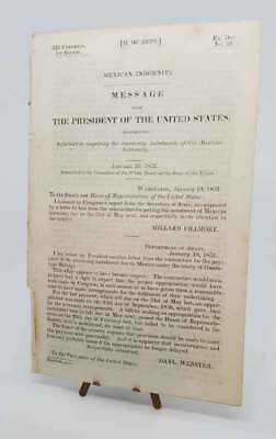 Millard Fillmore Mexican Indemnity Document