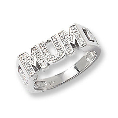Sterling Silver Mum Ring Latice Sides 4 Gram Many Sizes