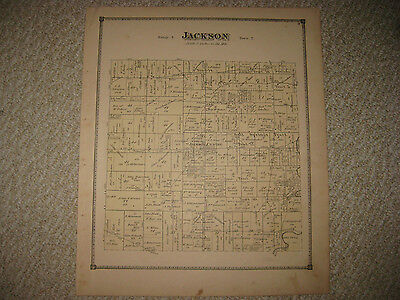 Antique 1874 Jackson Township Mahoning County Ohio Handcolored Map Superb Nr