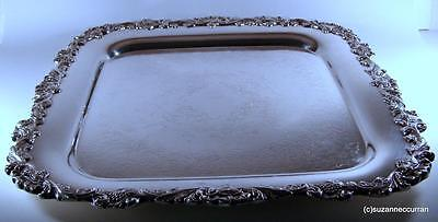 Webster & Wilcox / International Silverplate Silver Plate Sq Serving Tray Grapes