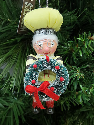 Hershey Girl Elf With Wreath Christmas Tree Ornament Stocking Stuffer Gift w Tag