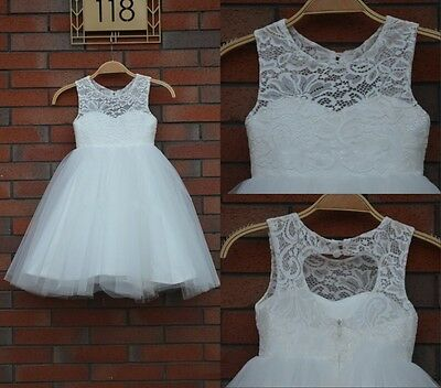 Flower Girl Princess Dress Toddler Baby Wedding Party Pageant Tulle Dresses