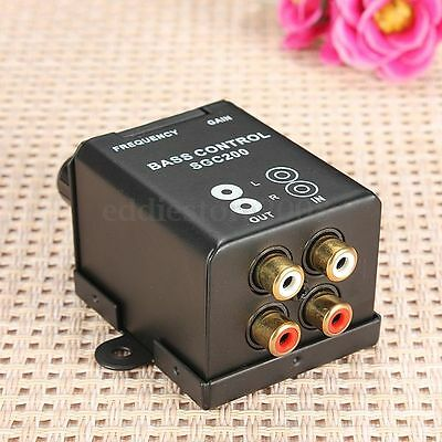 Universal Car Home Amplifier Controller RCA Gain Level Volume Control Knob Bass