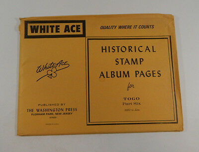 White Ace TOGO 1982-date Historical Stamp Album pages Part Six