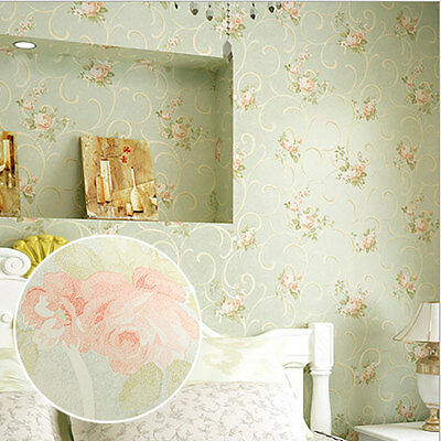 Vintage Country Style Non-woven Wallpaper Rolls Bedroom Living Room