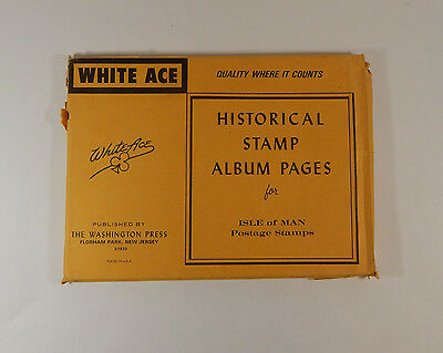 White Ace Historical Stamp Album Pages Isle of Man Postage Stamps