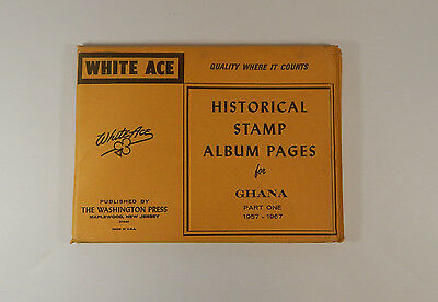 White Ace Historical Stamp Album Pages for Ghana 1957-1967 Part One
