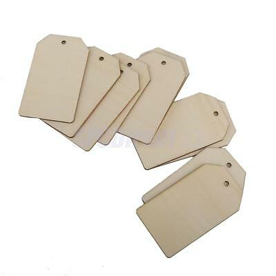 10 Plain Wood Rectangle Tags Embellishment Craft Cardmaking Scrapbooking DIY