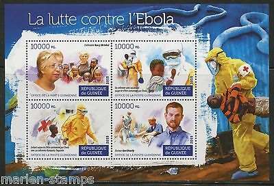 Guinea 2015 Fight Against Ebola  Sheet   Mint Nh