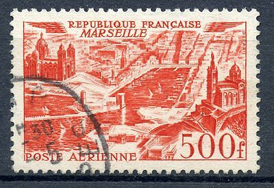 Stamp / Timbre France Oblitere Poste Aerienne N° 27 Marseille