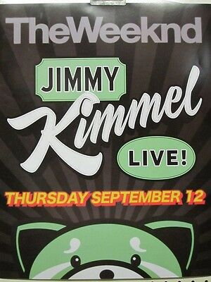 The Weeknd 2013 Kissland Jimmy Kimmel Promotional Poster ~New~Mint Condition~!