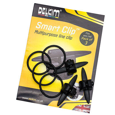 Delkim NEW Smart Clips (3 pack) Carp Fishing Bobbin Adjustment Line Clip