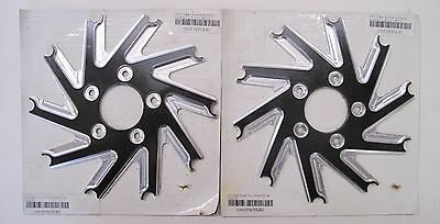 """Performance Machine Ronin 13"""" Front Brake Rotor Right/left Carriers Harley"""