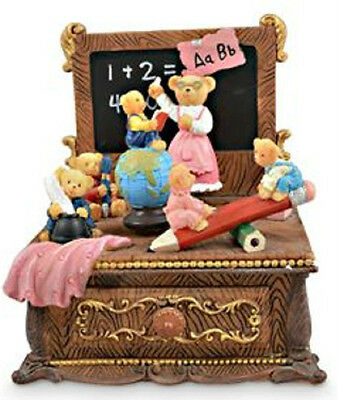 Baby Girl Boy Child Bears Studying School Musical Book Box Batisim Newborn Gift