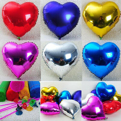"""1PC 18"""" Love Heart Foil Helium Balloons Home Wedding Party Birthday Decoration"""