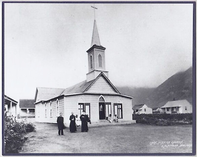 "Lady Of Health Church Molokai Hand Printed Photograph On 8X10"" Blueish Mat"