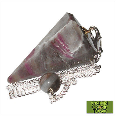 Ruby Kyanite Crystal Point Dowsing Pendulum Dowser Scrying