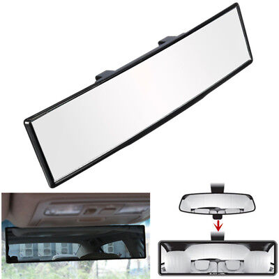 Auto Car 270mm Wide Flat Interior Clip On Universal Rear View Mirror NEW