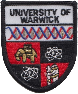 Warwick University Embroidered Patch Badge