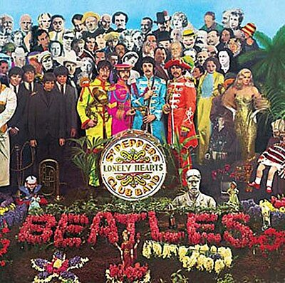 Beatles Sgt. Pepper LP Cover fridge magnet 75mm x 75mm   (ro)