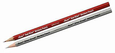 Markal Red-Riter & Silver-Streak Welders Pencil, Metal Marking & Welding, Pack 2