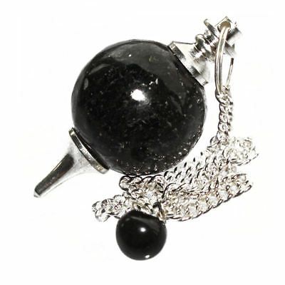 Nuummite Ball Dowsing Pendulum Crystal Sorcerer's Stone Developes Clairvoyance