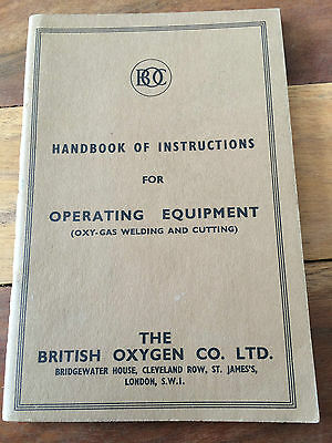 BOC Handbook of Instructions for Operating Equipment 1951 Excellent Condition