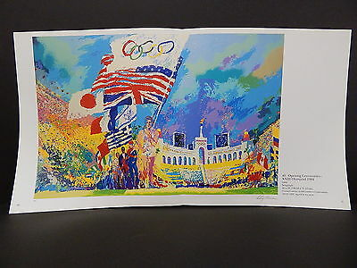 Leroy Neiman Double-Sided Book Plate Double Page 04 Opening Ceremonies XXIII
