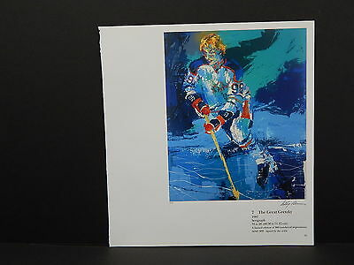 Leroy Neiman Double-Sided Book Plate S1#01 The Great Gretzky Hockey