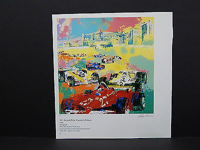 Leroy Neiman Double-Sided Book Plate S1#03 Grand Prix Caesar's Palace Formula-1