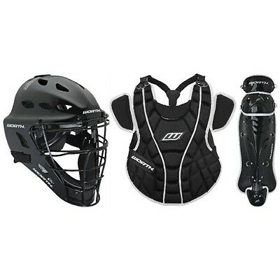 Worth Womens WCS1215 Storm Series Catchers Set 12-to 15 Black