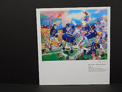 Leroy Neiman Double-Sided Book Plate S1#16 Giants-Broncos Classic Football