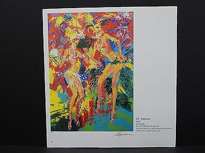 Leroy Neiman Double-Sided Book Plate S2#07 Passistas