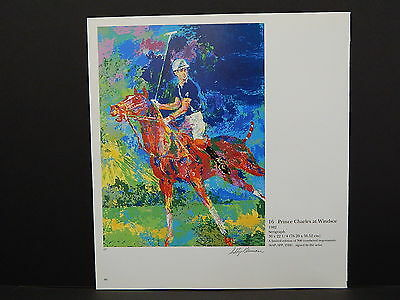 Leroy Neiman Double-Sided Book Plate S2#09 Prince Charles At Windsor