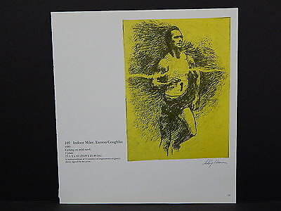 Leroy Neiman Double-Sided Book Plate S2#14 Indoor Miler, Eamon Coughlin Race