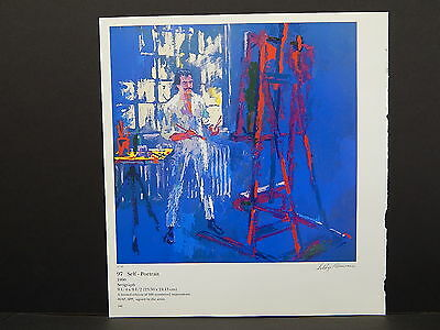 Leroy Neiman Double-Sided Book Plate S2#19 Self-Portrait
