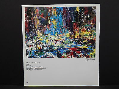 Leroy Neiman Double-Sided Book Plate S2#30 The Plaza Square