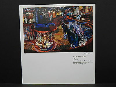 "Leroy Neiman Double-Sided Book Plate S2#34 ""38 Rush Street Bar"""