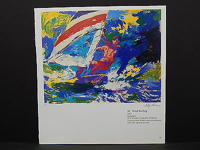 Leroy Neiman Double-Sided Book Plate S2#35 Wind Surfing