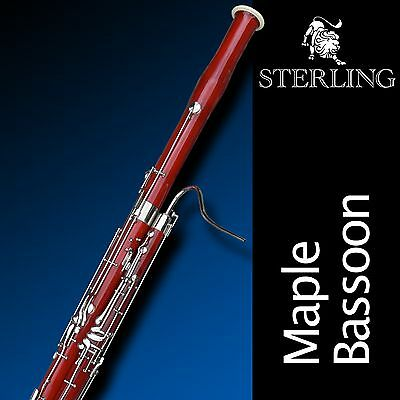STERLING Bassoon • With Case  • Superb Quality Solid Maple Wood •