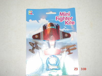 MINI AEROPLANE KITE- 11cm with LINE ( Red) ~ PARTY BAG or GIFT