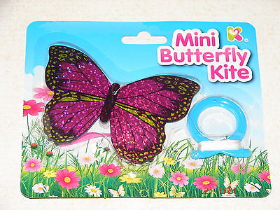 MINI BUTTERFLY KITE- 12cm with LINE - PARTY BAG or GIFT