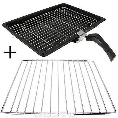 Grill Pan + Handle + Rack + Adjustable Extendable Shelf for BOSCH Oven Cooker