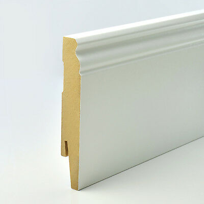 2.5m 15x120mm D-PROFILE MDF SKIRTING BOARD & ACCESSORIES floor cover hamburger
