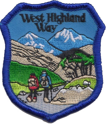 West Highland Way Walk Scotland Shield Embroidered Patch Badge